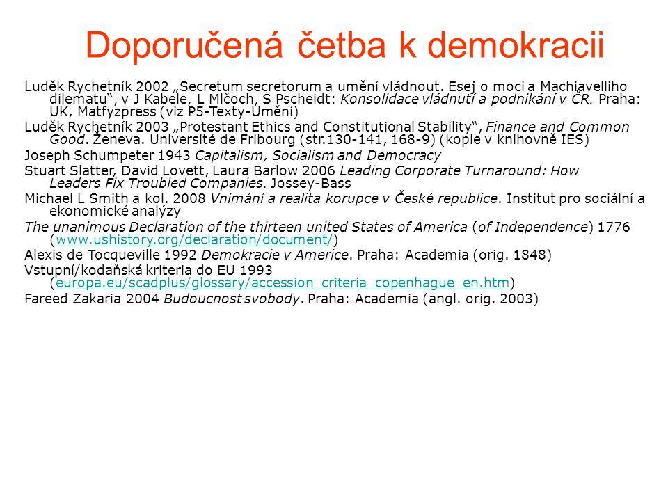 """Doporučená četba k demokracii Luděk Rychetník 2002 """"Secretum secretorum a umění vládnout."""