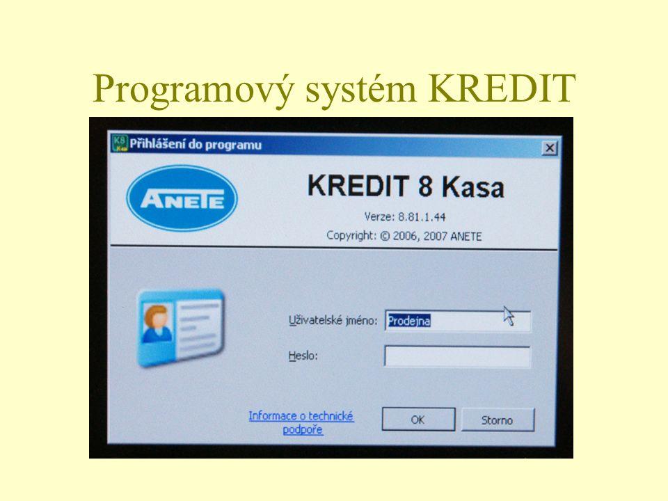 Programový systém KREDIT