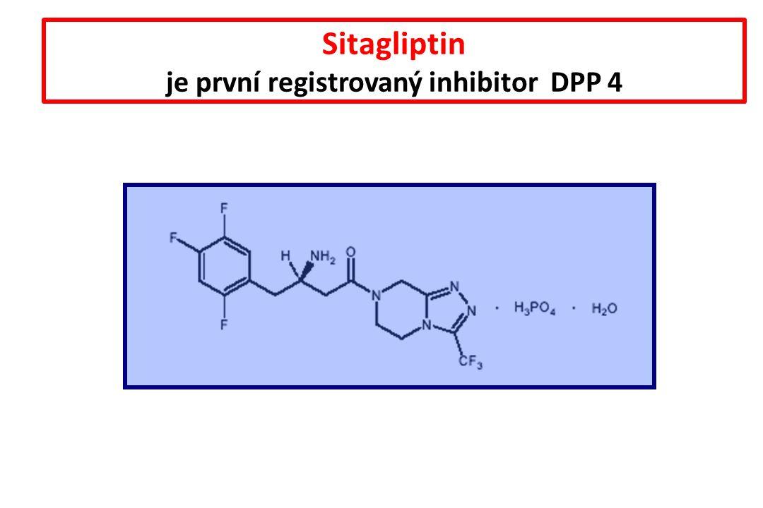 Sitagliptin je první registrovaný inhibitor DPP 4