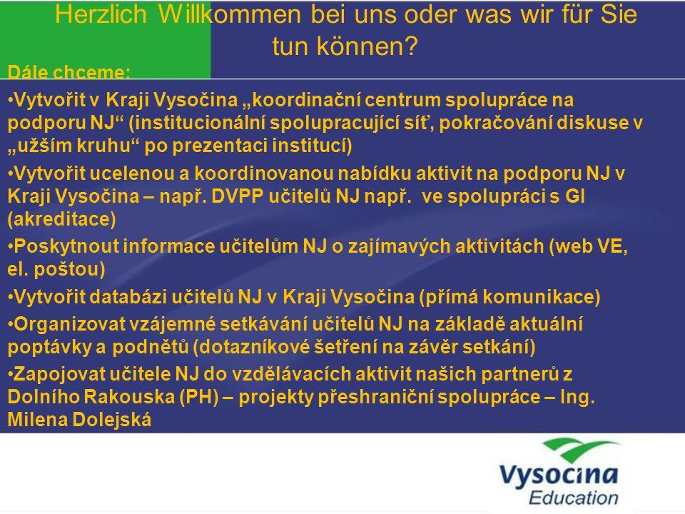 Vielen Dank für Ihre Aufmerksamkeit. Mgr. Roman Křivánek, ředitel Vysočina Education