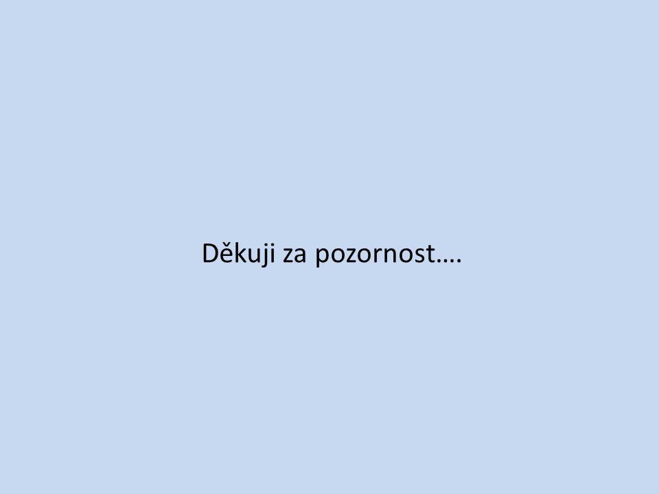 Děkuji za pozornost….