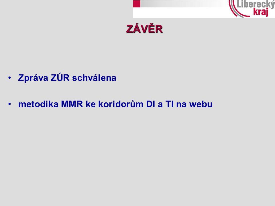 ZÁVĚR Zpráva ZÚR schválena metodika MMR ke koridorům DI a TI na webu