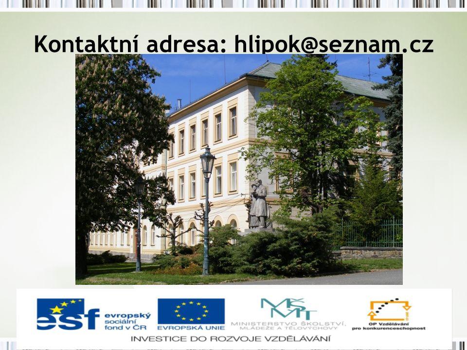 Kontaktní adresa: hlipok@seznam.cz