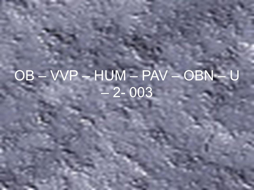OB – VVP – HUM – PAV – OBN – U – 2- 003