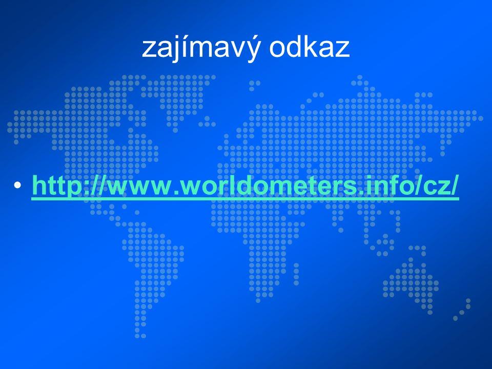 zajímavý odkaz http://www.worldometers.info/cz/