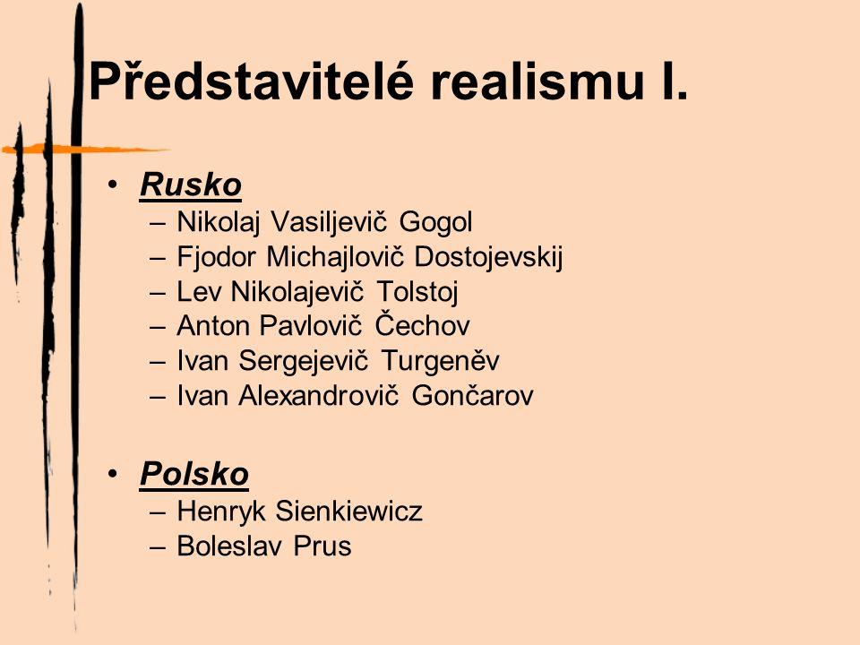 Představitelé realismu II.