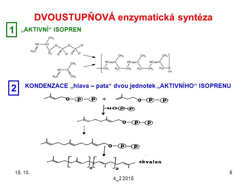 DVOUSTUPŇOVÁ enzymatická syntéza 15. 10.