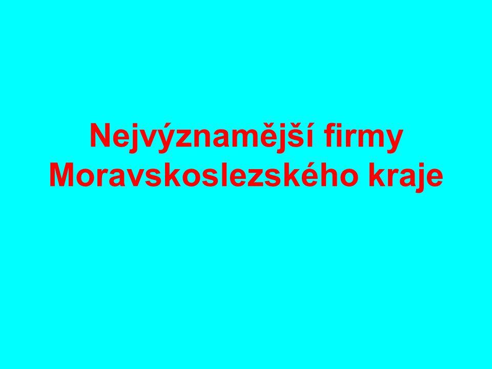 Nejvýznamější firmy Moravskoslezského kraje