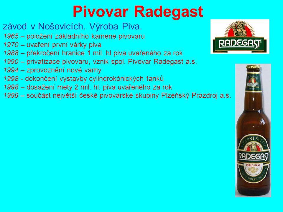 Pivovar Radegast závod v Nošovicích. Výroba Piva.