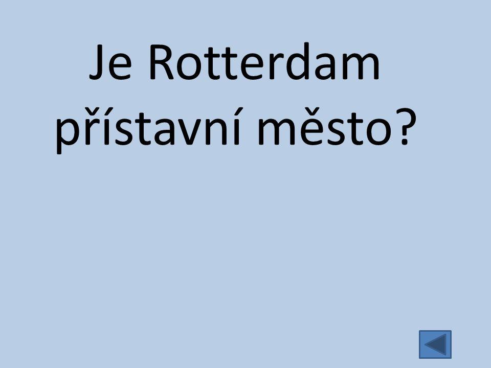 Je Rotterdam přístavní město