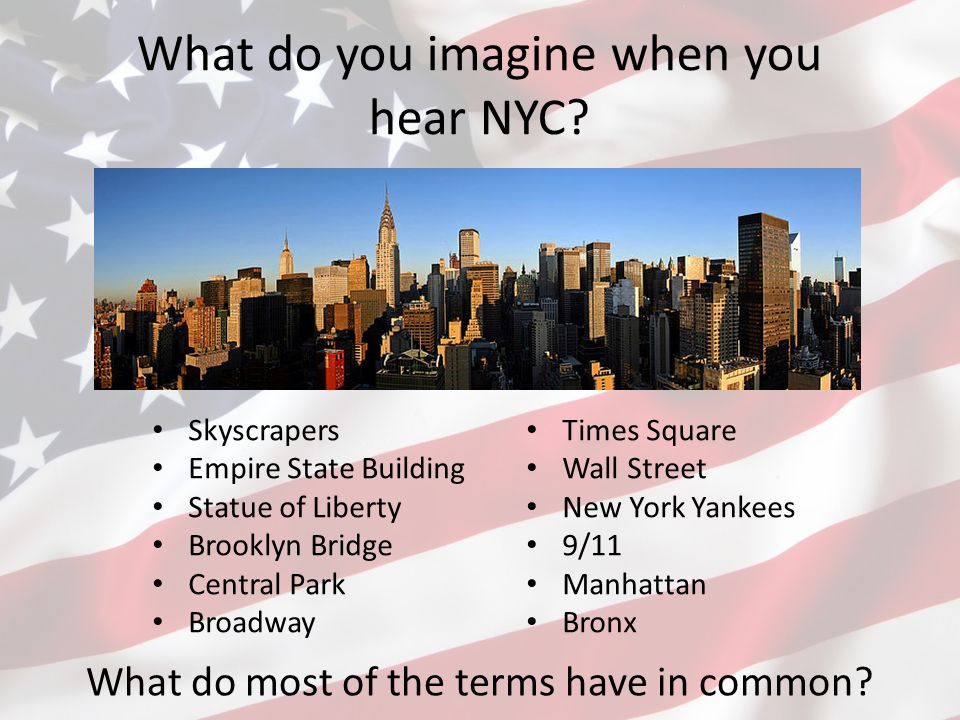 What do you imagine when you hear NYC.