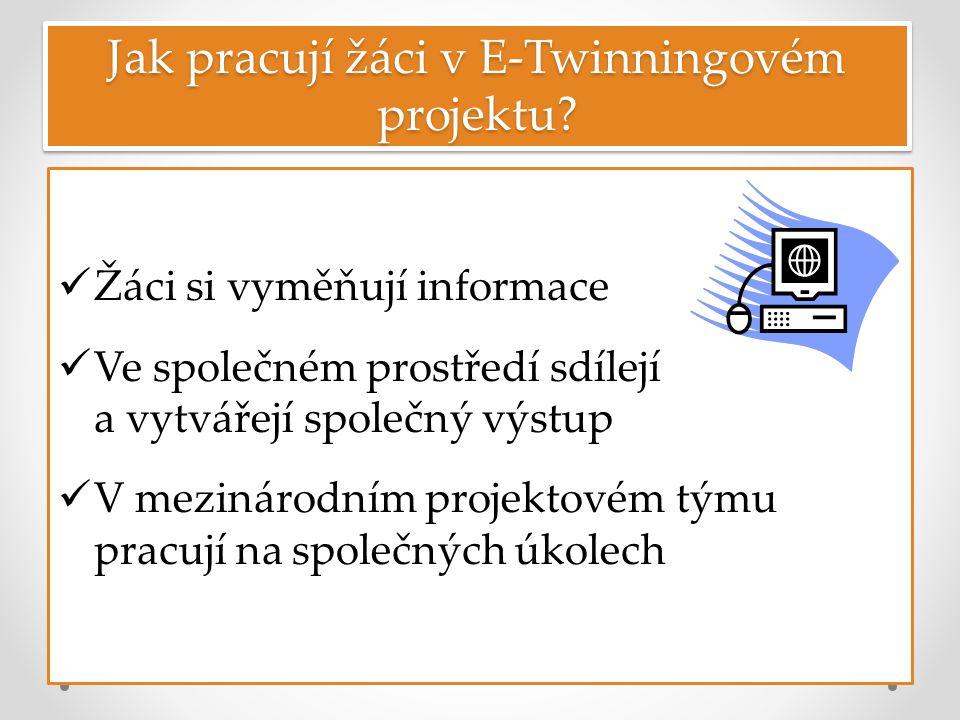 Jak pracují žáci v E-Twinningovém projektu.