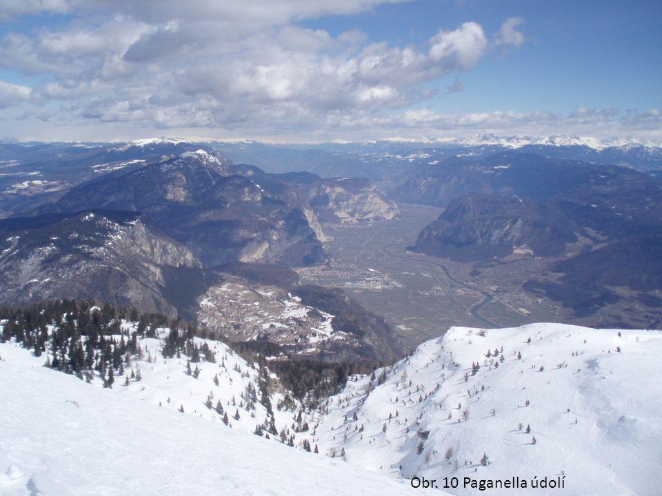 Obr. 10 Paganella údolí
