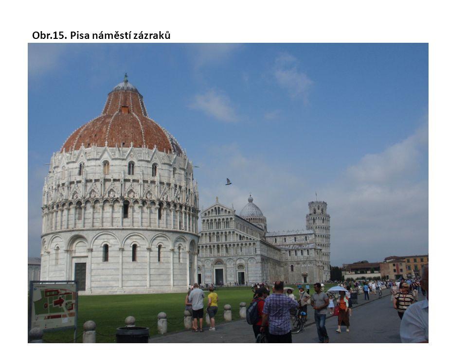 Obr.15. Pisa náměstí zázraků