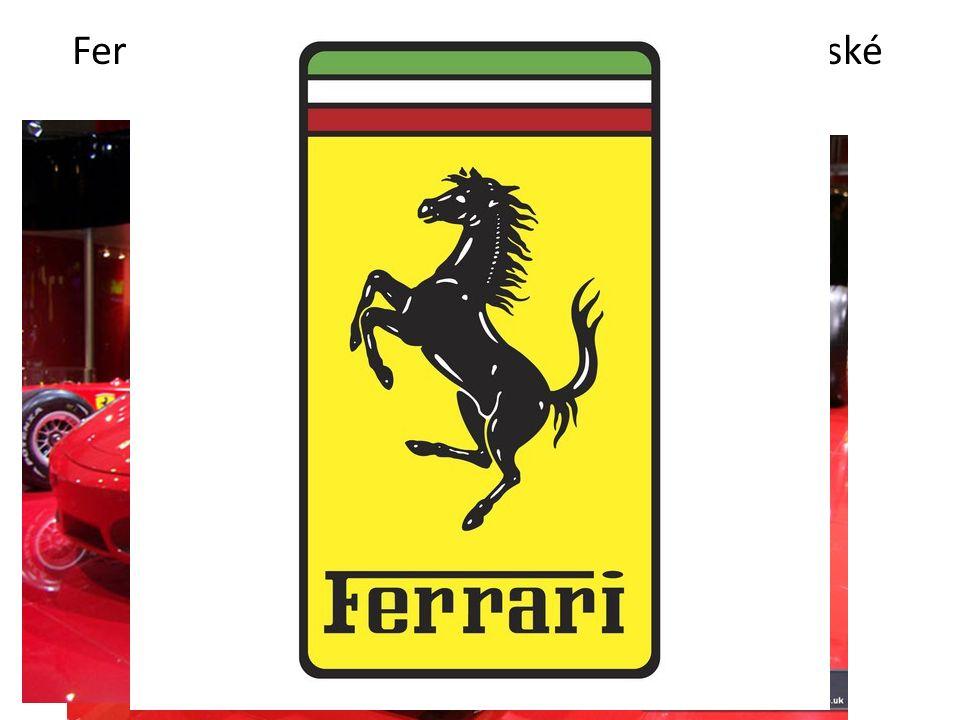 Ferrari- automobilová značka založená v italské Modeně 1929