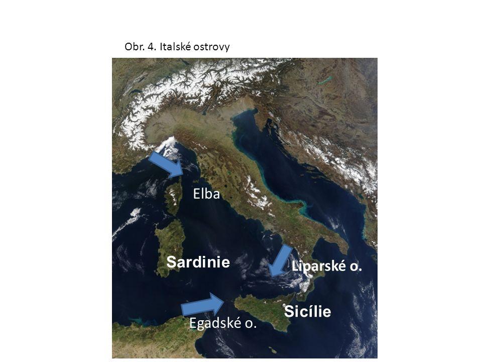 Obr. 5. Poloostrovy Itálie Gargano Salantina Kalábrijský