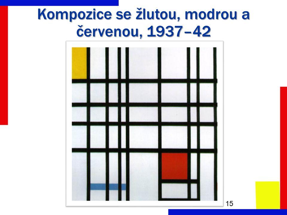 Kompozice se žlutou, modrou a červenou, 1937–42 15