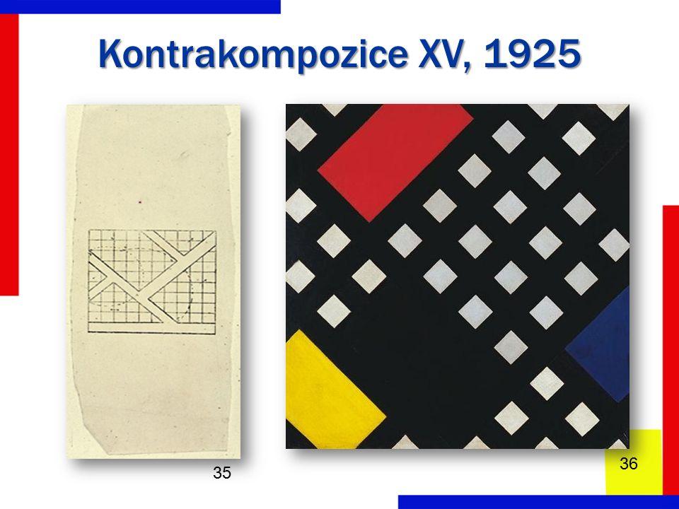 Kontrakompozice XV, 1925 35 36