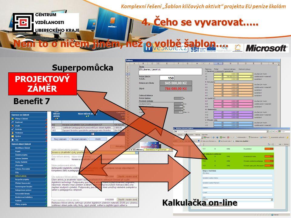 """Komplexní řešení """"Šablon klíčových aktivit projektu EU peníze školám 8 4."""