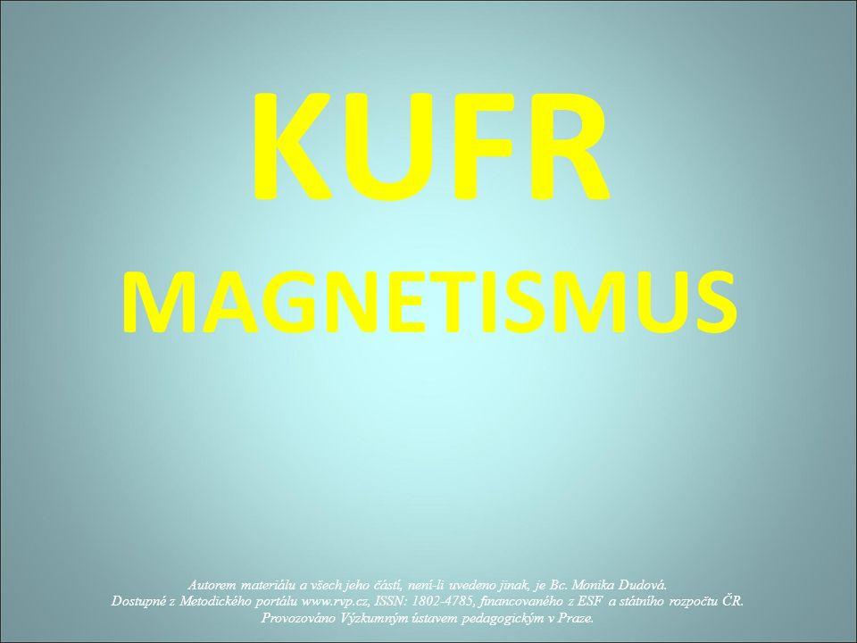 KUFR MAGNETISMUS Autorem materiálu a všech jeho částí, není-li uvedeno jinak, je Bc.