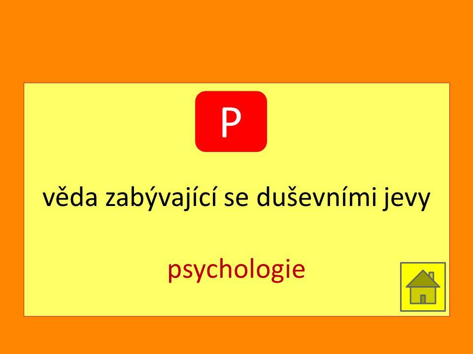 věda zabývající se duševními jevy psychologie P