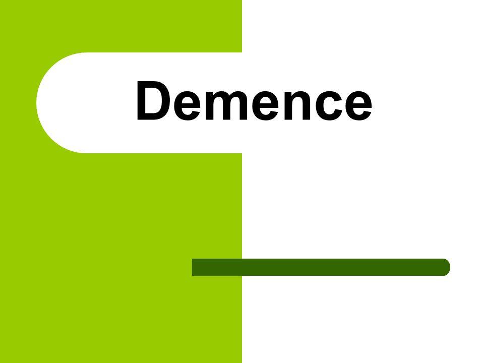 Dědičnost pokud se demence vyskytne před 60.rokem věku, jedná se o dědičně podmíněné onemocnění.