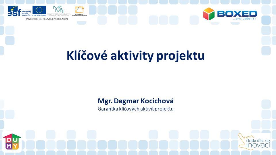 Klíčové aktivity projektu Mgr. Dagmar Kocichová Garantka klíčových aktivit projektu