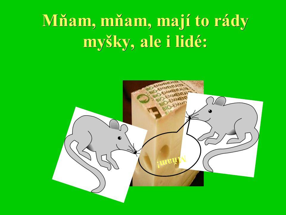 Mňam, mňam, mají to rády myšky, ale i lidé: Mňam!