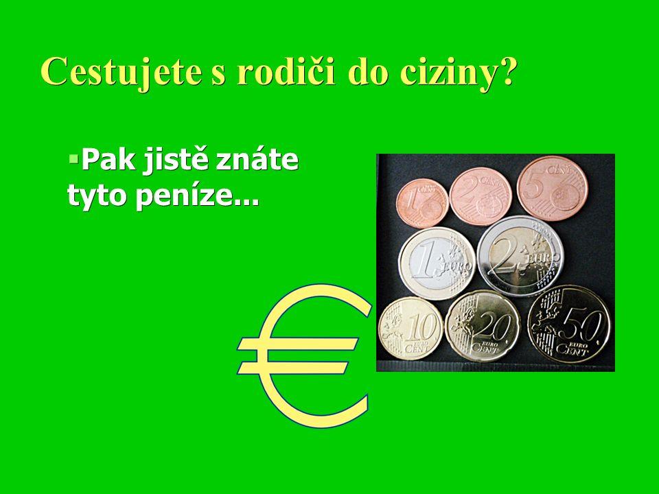 Cestujete s rodiči do ciziny  Pak jistě znáte tyto peníze...