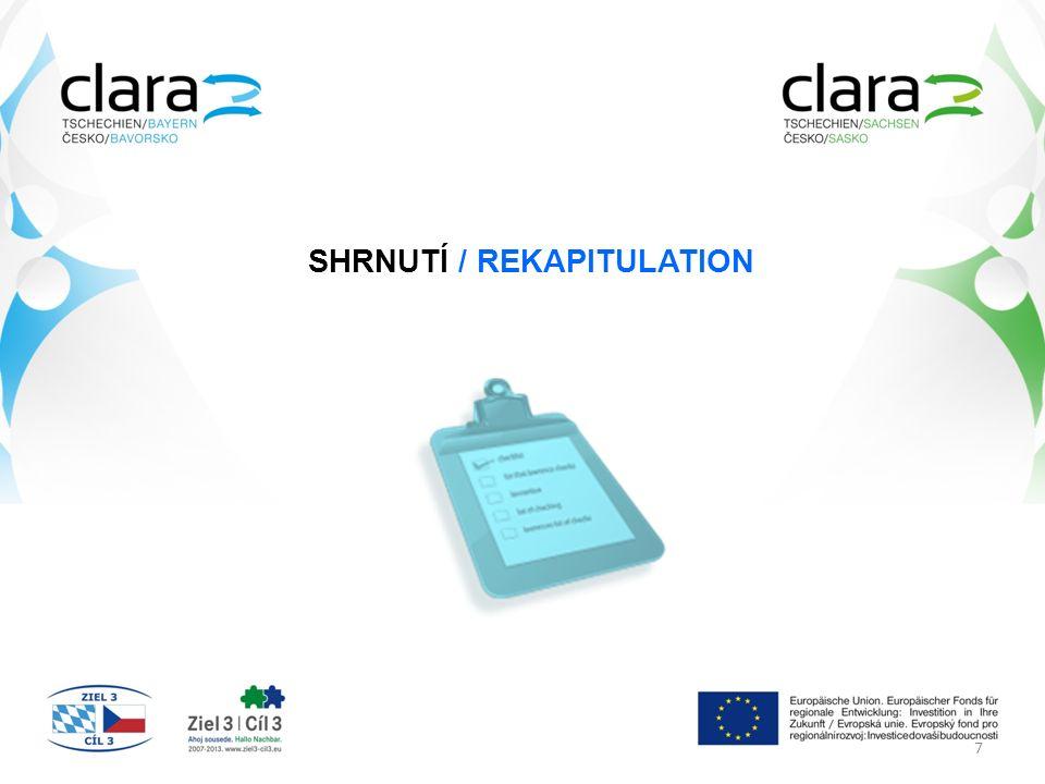 SHRNUTÍ / REKAPITULATION 7