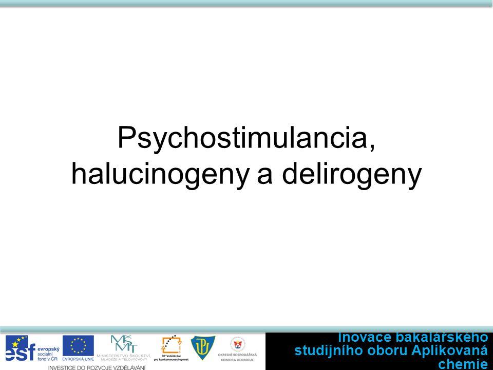 Psychostimulancia, halucinogeny a delirogeny Inovace bakalářského studijního oboru Aplikovaná chemie