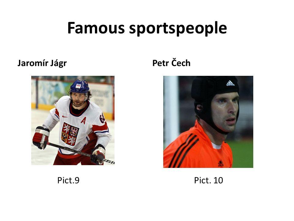 Famous sportspeople Jaromír Jágr Pict.9 Petr Čech Pict. 10