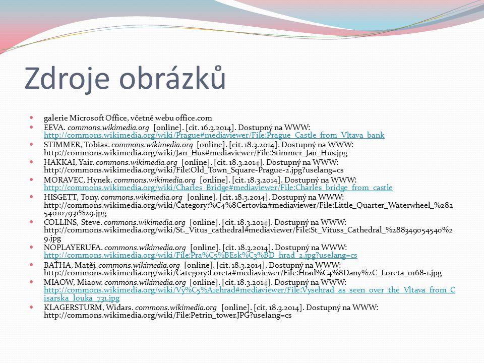 Zdroje obrázků galerie Microsoft Office, včetně webu office.com EEVA.