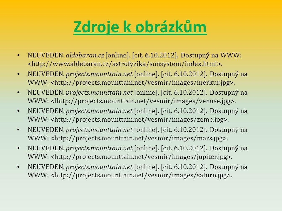 Zdroje k obrázkům NEUVEDEN. aldebaran.cz [online].