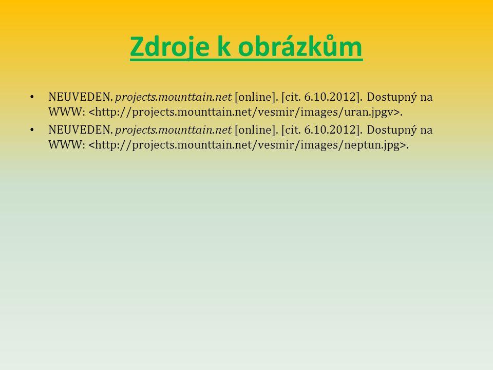 Zdroje k obrázkům NEUVEDEN. projects.mounttain.net [online]. [cit. 6.10.2012]. Dostupný na WWW:.