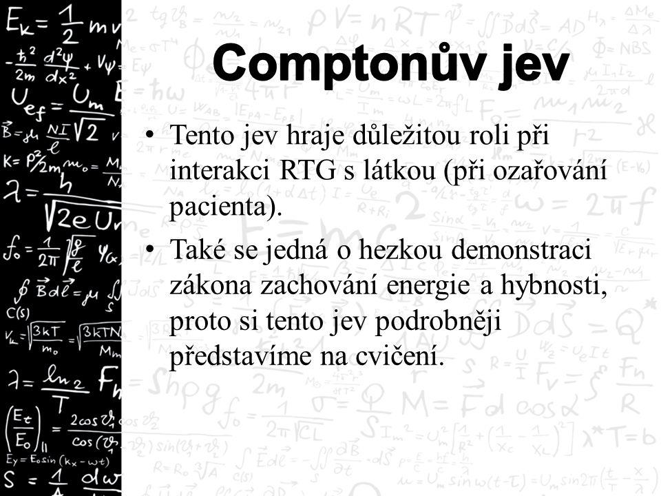 Tento jev hraje důležitou roli při interakci RTG s látkou (při ozařování pacienta).