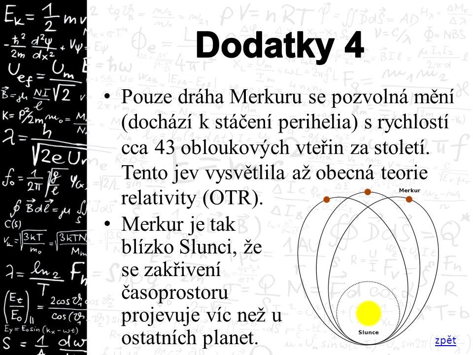 Pouze dráha Merkuru se pozvolná mění (dochází k stáčení perihelia) s rychlostí cca 43 obloukových vteřin za století.