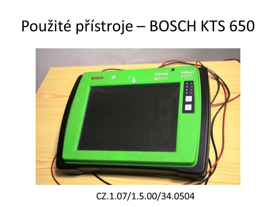 Použité přístroje – BOSCH KTS 650 CZ.1.07/1.5.00/34.0504