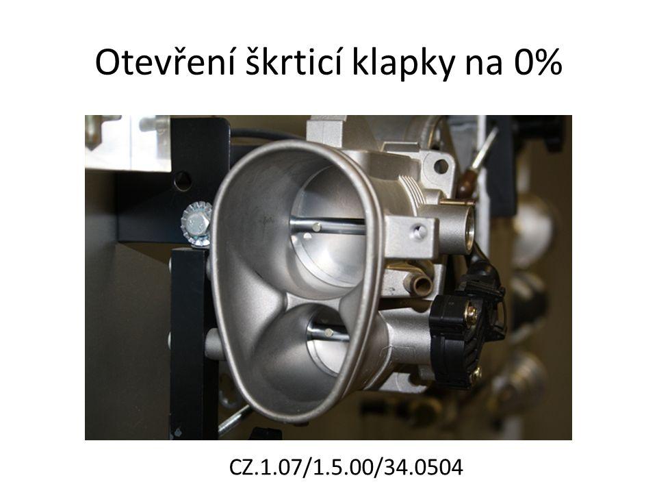 Otevření škrticí klapky na 0% CZ.1.07/1.5.00/34.0504