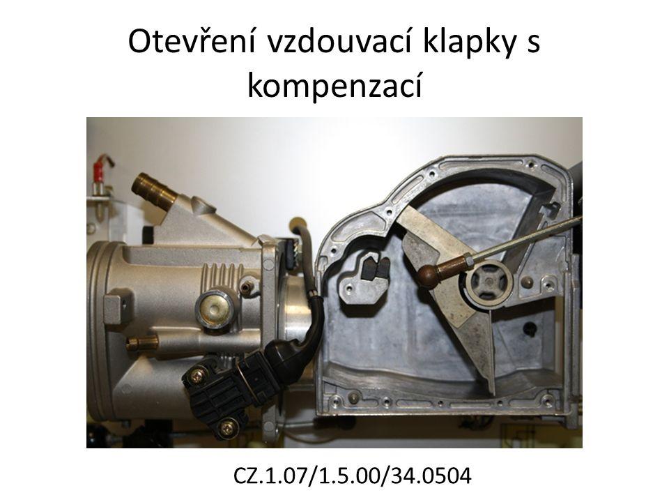 Otevření vzdouvací klapky s kompenzací CZ.1.07/1.5.00/34.0504