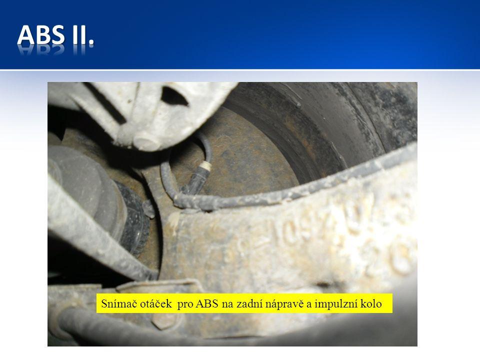 Snímač otáček pro ABS na zadní nápravě a impulzní kolo