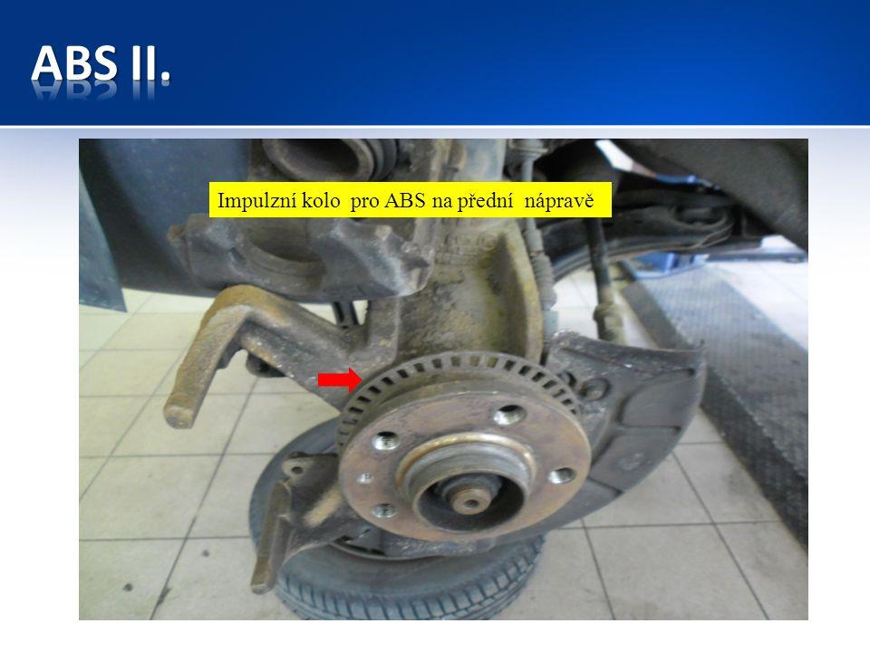 Impulzní kolo pro ABS na přední nápravě