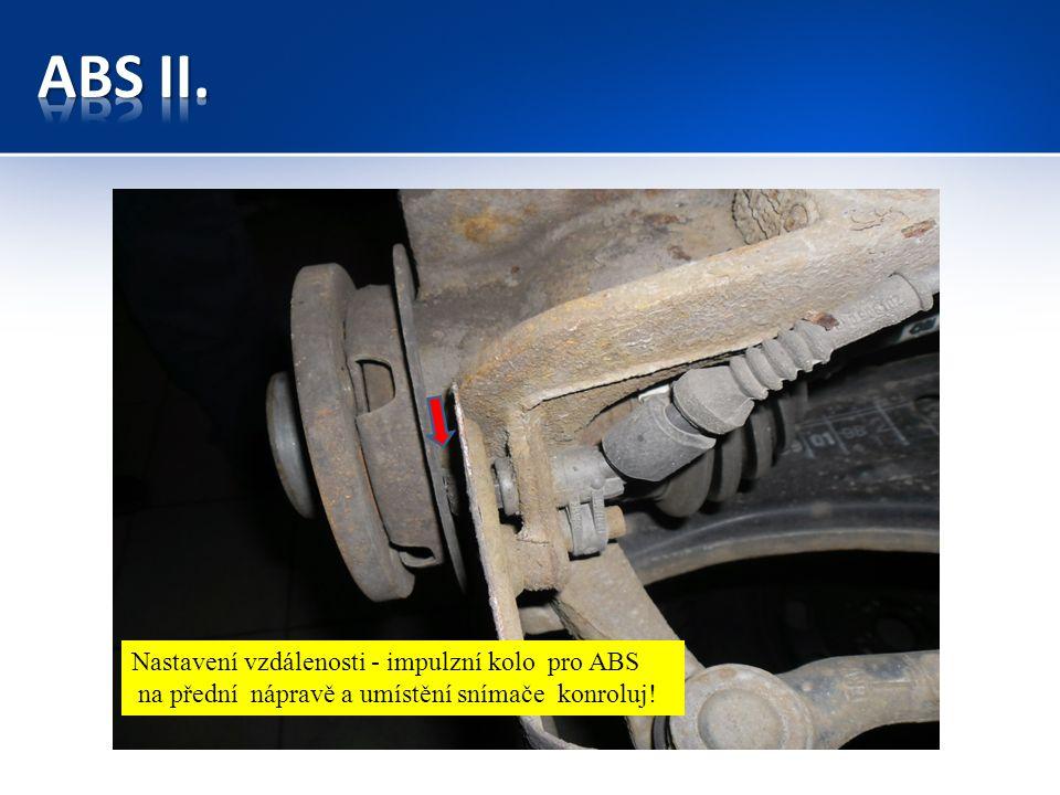 Snímač otáček pro ABS na zadní nápravě