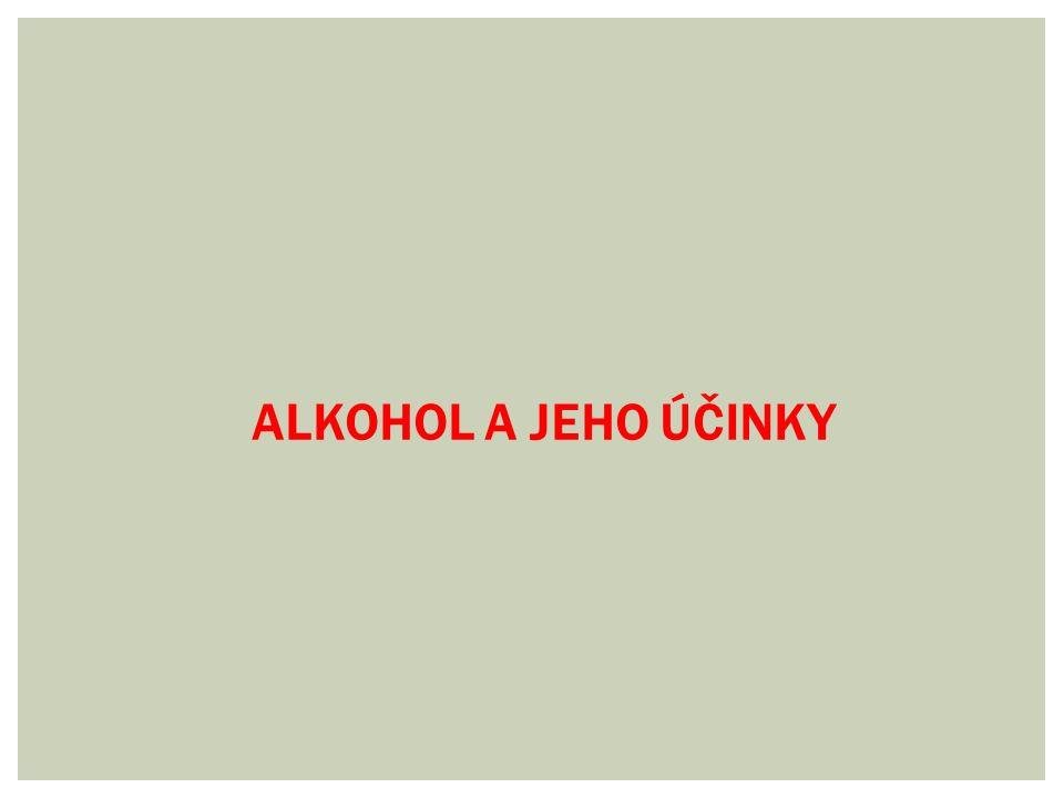  Alkohol je bezbarvá tekutina, která vzniká kvašením cukrů  Chemicky se jedná o etanol  Používá se v různých oblastech lidské činnosti např.