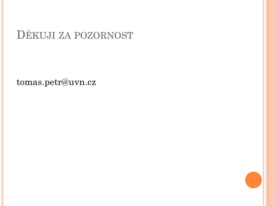 D ĚKUJI ZA POZORNOST tomas.petr@uvn.cz