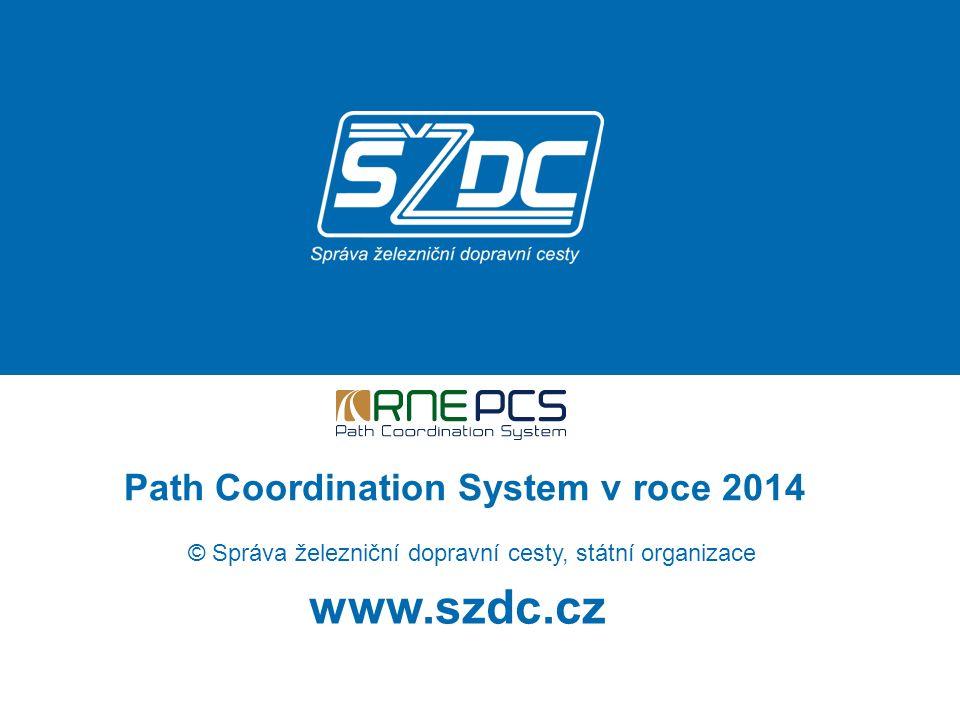 www.szdc.cz © Správa železniční dopravní cesty, státní organizace Path Coordination System v roce 2014