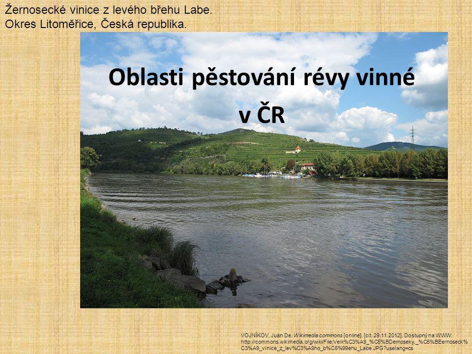 Oblasti pěstování révy vinné v ČR VOJNÍKOV, Juan De.