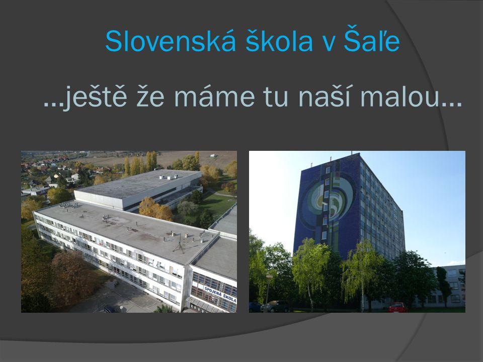 Slovenská škola v Šaľe …ještě že máme tu naší malou…