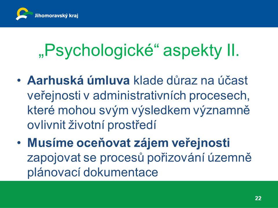 """""""Psychologické aspekty II."""