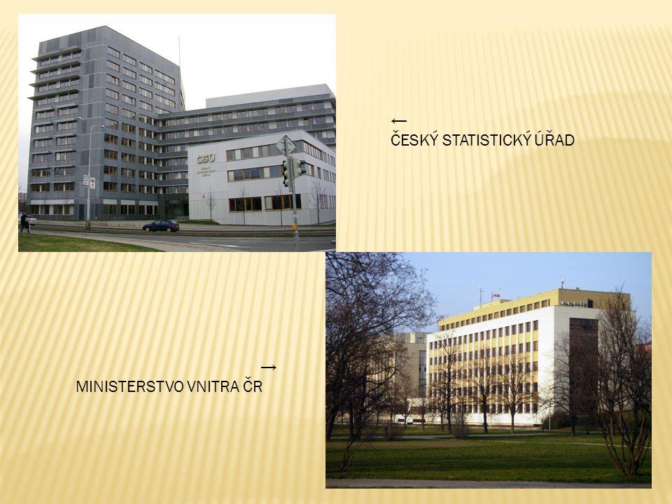 ← ČESKÝ STATISTICKÝ ÚŘAD → MINISTERSTVO VNITRA ČR